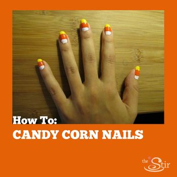 candy corn nail tutorial