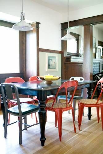 metal chairs dining room