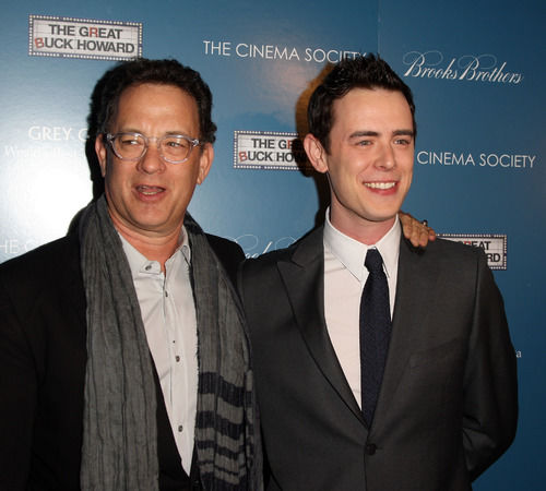 Tom and Colin Hanks