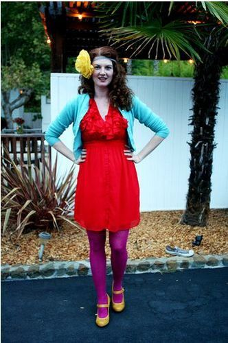 maggie mason colored tights bold outfit