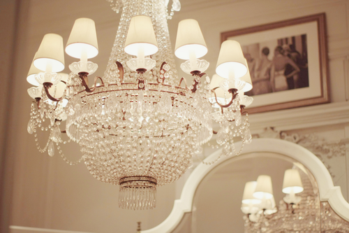 Ralph Lauren Paris store chandelier