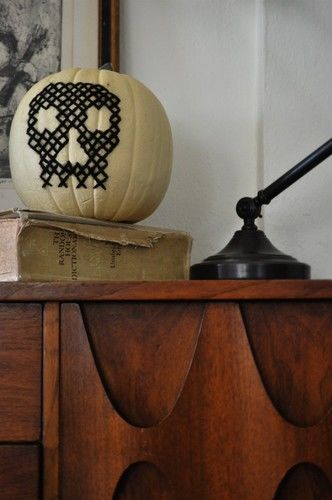 cross-stitch pumpkin