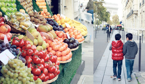 boys paris fruit stand