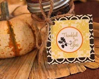 Thanksgiving gift tag printable