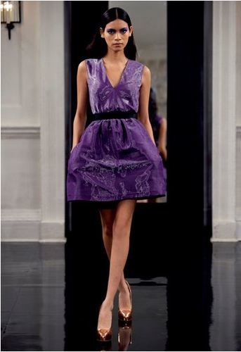 Victoria Beckham dress purple