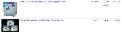 OB Tampons prices
