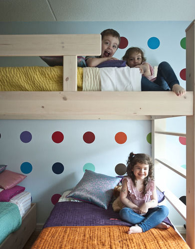 triplets room makeover kids beds bunk