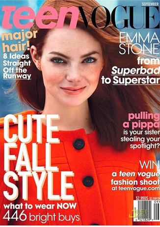 emma stone teen vogue