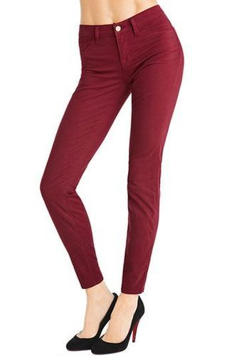 berry skinny pants