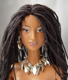 Natural hair Barbie
