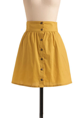 craving curry skirt yellow gold