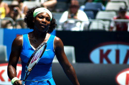 serena williams blue tennis outfit