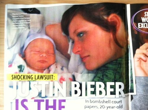justin bieber paternity baby