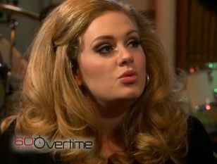 Adele singing 'Rolliing in the Deep' on '60 Minutes'