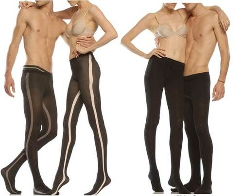 Men wearing pantyhose dresses
