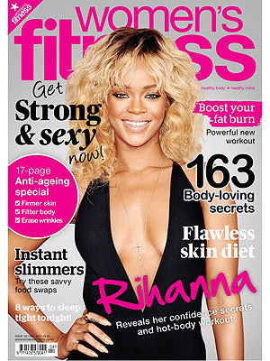 rihanna on cover of women's fitness magazine