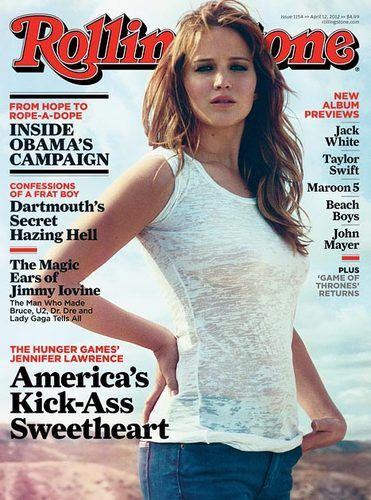 Jennifer Lawrence braless on 'Rolling Stone' Cover