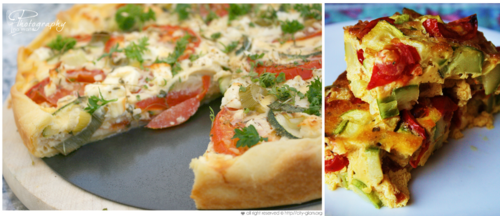Easter Quiche vs. Frittata
