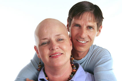 woman and man breast cancer survivor