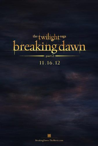 breaking dawn 2 poster twilight