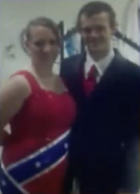 confederate flag prom dress