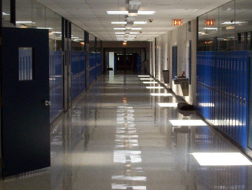 school hallway