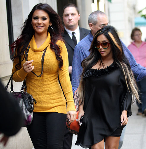 Snooki and J. Woww in New York City