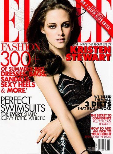 kristen stewart on cover of elle