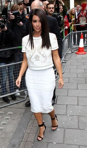 Kim KArdashian in White