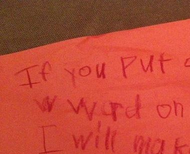 password threat little girl