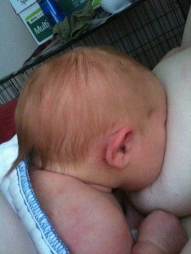baby breastfeeding twitter profile photo