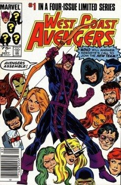 west coast avengers cover hawkeye
