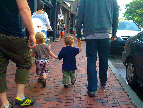 kids holding hands