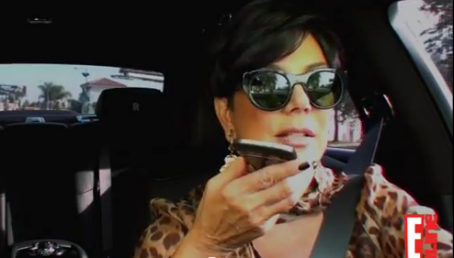 kris jenner with her blackberry