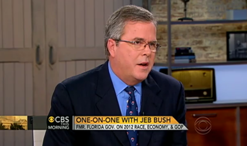 jeb bush on cbs this morning with charlie rose