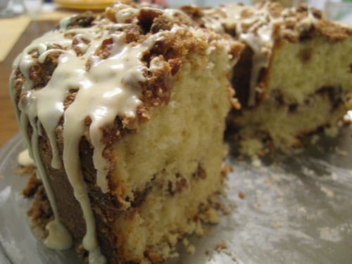 coffee cake with glaze