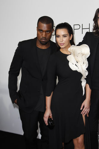 Kim Kardashian at PAris Haute Couture Fashion Week with Kanye West