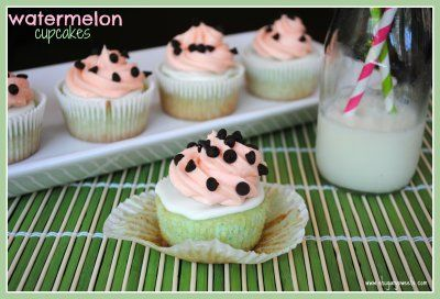 Watermleon Cupcakes