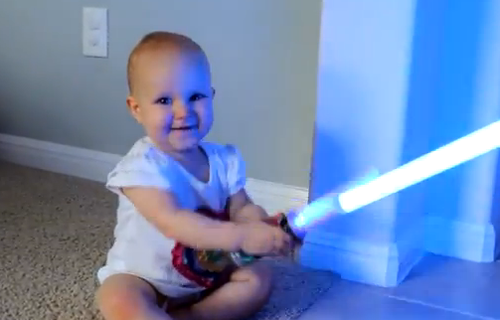 baby lightsaber