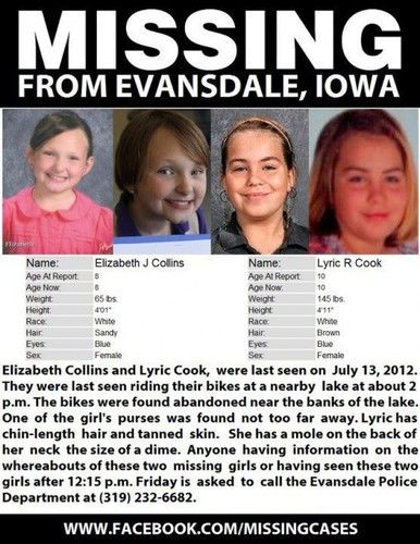 Lyric Cook-Morrisseey Elizabeth Collins Missing Poster