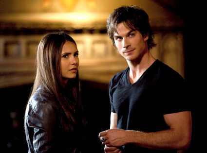 Ian Somerhalder Nina Dobrev in the Vampire Diaries