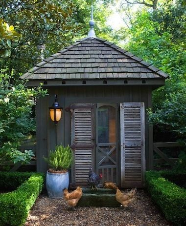 7 beautiful chicken coops to on garden shed door plans