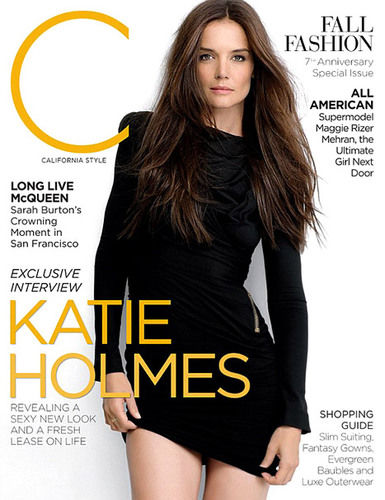 katie holmes on cover of c magazine