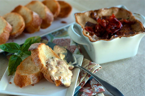 roasted tomato and brie dip