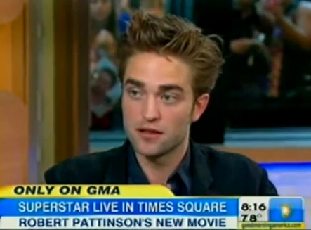 robert pattinson gma