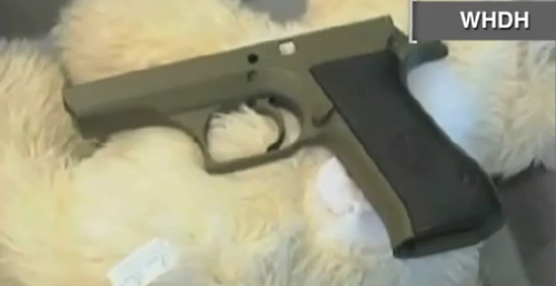 gun in teddy bear