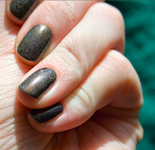 black nail polish