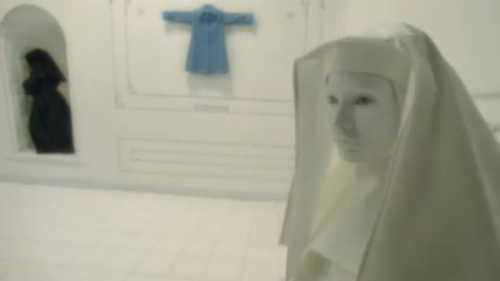 American Horror Story Asylum nun blue coat
