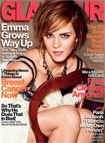 emma watson on glamour magazine