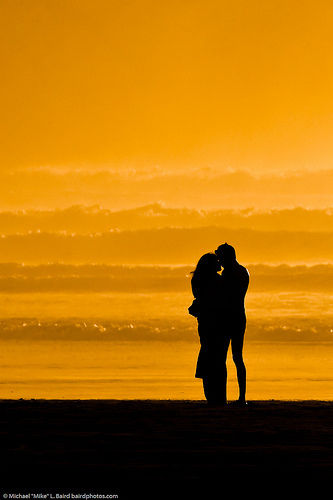 couple at sunset